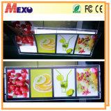 Cadre léger de type de restaurant d'étalage acrylique neuf du menu DEL