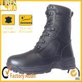 Ботинок боя Mens черный неподдельный польностью кожаный модный воинский тактический