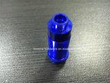 Pièce de commande numérique par ordinateur de boulon bleu de peinture