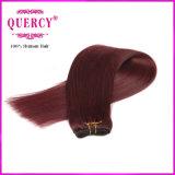 Cheveux humains cambodgiens colorés par cheveu de couleur rouge de Remy de Vierge de 2016 nouveaux produits