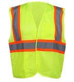 Veste elevada da segurança de Rflective da visibilidade (classe dois)
