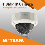 Câmera CCTV IP com Poe Câmera CCTV 1/3 CMOS 1024p 1.3MP com Sony Sensor Dome Vandal Proof Security Camera