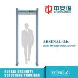 18 zonas dobram a porta infravermelha do detetor de metais da modalidade para a segurança do banco