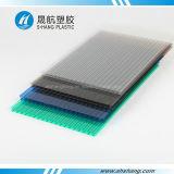 Feuille de toiture de polycarbonate de Jumeau-Mur de couleur verte