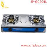 ガーナのJpGc204 Stainless Steel Sheet Double Burner Gas Stove