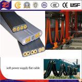 Sistema de conductor de cobre del cable plano