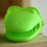 Gants anti-caloriques de silicones de micro-onde de traitement au four de cuisine de support de mitaines de four de gants de silicones