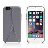 iPhoneのための細く柔らかいTPUのジッパー様式のシリコーンの電話裏表紙6 6s 4.7インチ