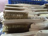 Провода ручки высокого качества щетка деревянного латунного полируя (YY-601)