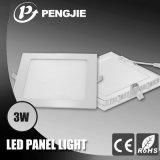 панель потолочного освещения 3W белая СИД для крытого с CE (квадрат)