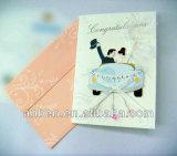 Tarjetas de papel que graban con el papel de tacto suave para el cumpleaños con nuevo diseño