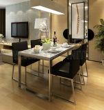Tabelas de jantar de vidro luxuosas modernas dos projetos os mais atrasados para a venda (NK-DT203-2)