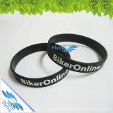 Unisex, cor da tinta de Debossed do bracelete da borracha de silicone dos Wristbands do silicone do género das mulheres