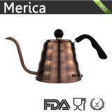 ステンレス鋼のコーヒー滴りのやかんはコーヒー茶1200mlのためのGooseneckのコーヒー鍋に注ぐ