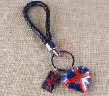 Metallo Keychain con Colourful Logo Debossed