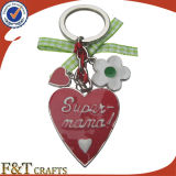 De Douane Keychain van het Metaal van de Vorm van het Hart van het Paar van de Valentijnskaart van de bevordering (FTKC1822A)