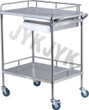 Edelstahl Dressing u. Medicine Change Cart mit Two Drawers