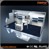 Modèle de cabine d'objets exposés d'île