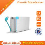 Bewegliche Slim Kreditkarte Power Bank 2600mAh