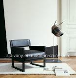 Singolo sofà della disposizione dei posti a sedere di cuoio di legno moderna italiana di stile (D-64)