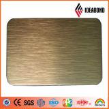 Geborstelde afwerking aluminium composiet paneel