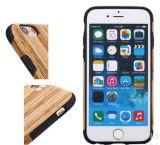 Caixa de madeira portátil e elegante do telefone do teste padrão para iPhone6/6s