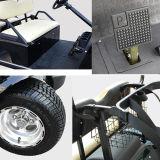 Carro de golfe elétrico da CEE do painel solar do assento de Hdk 4 com carga de alumínio