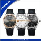 Geval van het Roestvrij staal van het Horloge van de Mens van de Wijzerplaat van het Kwarts van de Beweging van Japan van de luxe het Eenvoudige terug