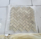 Mosaïque de marbre de blanc de tuiles de mosaïque