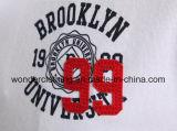 T-shirt brodé de polo d'hommes adapté par mode de qualité