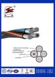 línea de transmisión de arriba 1kv cable liado aéreo del cable del ABC