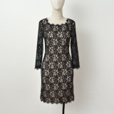 Fashion Lace Dress das senhoras com ő Sleeve