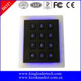 Teclado iluminado da matriz 3X4 para o sistema do controlo de acessos