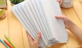 A4 effacent la glissade de livre protectrice en plastique d'exercice sur des jupes de couverture