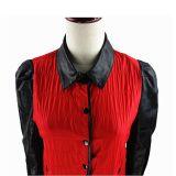 Camice rosse delle donne del progettista di Clasical del rivestimento della camicia delle signore