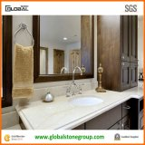 Hotel luxuoso White Onyx Vanity Tops com Back&Side Splashes