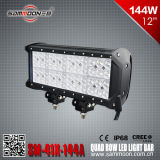 De Vierling Pencil/Flood/Combo Beam Row LED Light Bar 12 van de duim 144W (48PCS*3W) (sm-41x-144A)