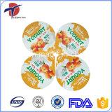 Geprägte Joghurt-Aluminiumfolie-Kappen
