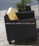 Sofà per qualsiasi tempo tessuto rattan sintetico stabilito esterno del sofà del patio del giardino della mobilia impostato (YT022)