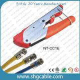 同軸ケーブルRg59 RG6 Fのコネクターの圧縮のツール(NT-CC1E)