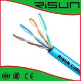 Cabo duplo 0.50mm do cabo de LAN UTP do twisted pair interno Cat5e Bc