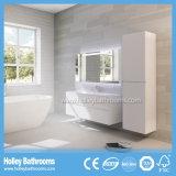 Heiße LED-helle Noten-Schalter-High-Gloss Perlen-weißer Badezimmer-Wannen-Schrank (B926P)