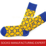 Alta calidad de los hombres de algodón Peine libre del calcetín (UBM1026)