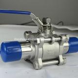 Санитарный выдвинутый шариковый клапан заварки 3PC с фиксируя ручкой