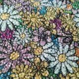 Motivo quente do reparo do vestuário colorido da folha da resina da flor