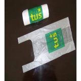 sacchetto bianco della maglietta di 20+10+10*45 20microns con stampa