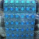 판매를 위한 청색 돌 리본 24 줄 손질