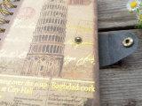 Подгонянная тетрадь пряжки спирали крышки слоения золота