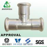 Inox de calidad superior que sondea el acero inoxidable sanitario 304 316 juntas de te apropiadas del tubo de la prensa