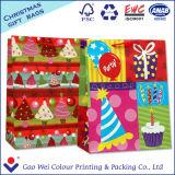 La qualité personnalisent le sac de papier de Joyeux Noël pour le cadeau